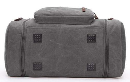 Travel Duffel Bag Canvas Tote Gray