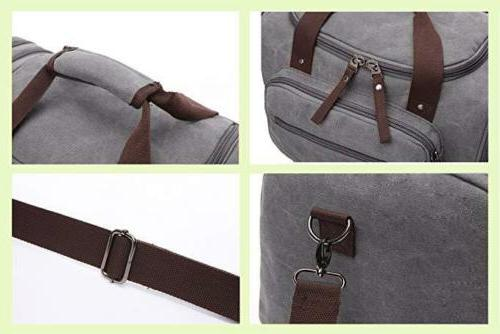 Travel Duffel Canvas Tote Gray