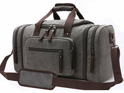 Travel Duffel Canvas Sports Tote On Luggage