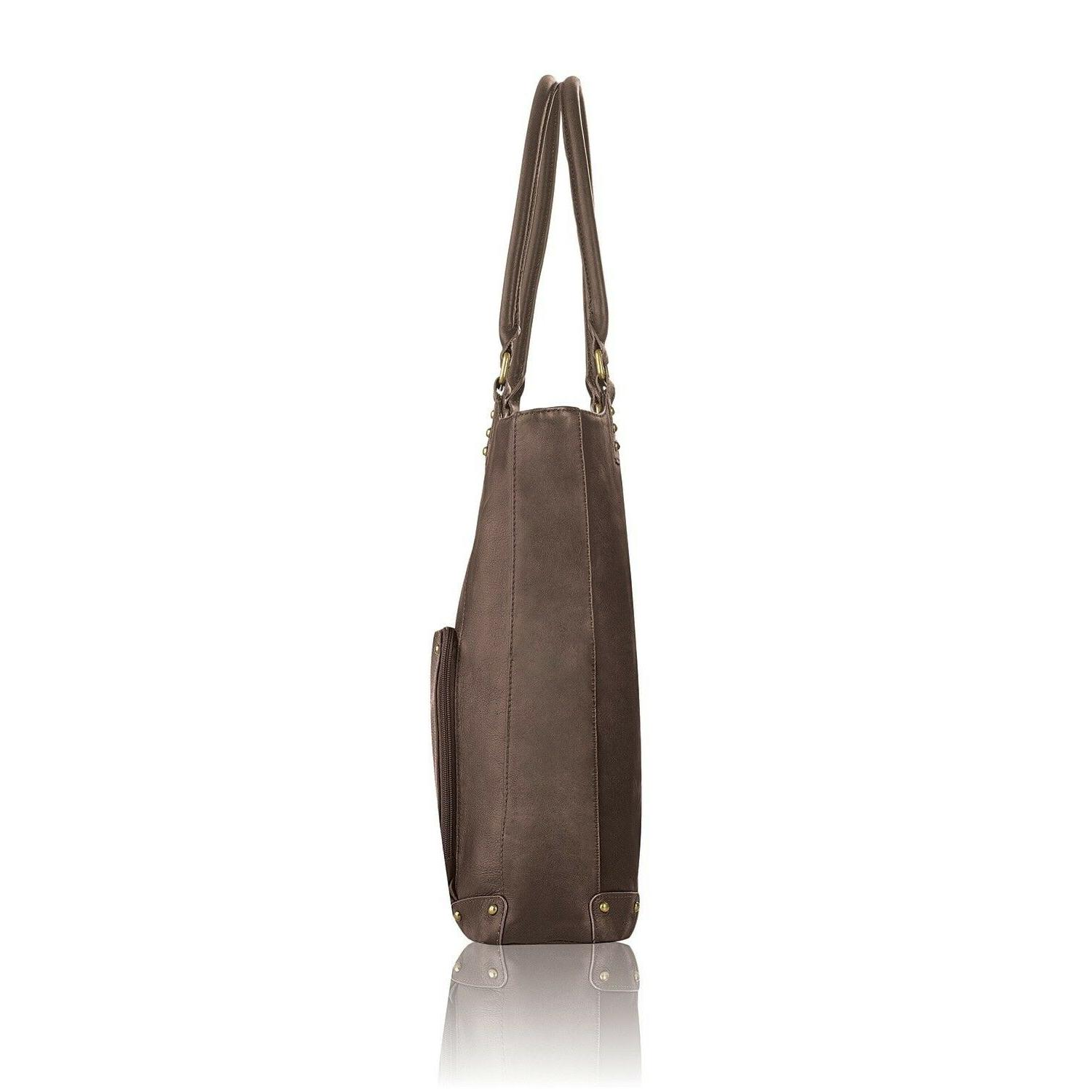 Womens Solid Leather Multi