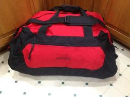 "Large Jansport Canvas Duffle Travel Bag Black 27"" Shoulder S"