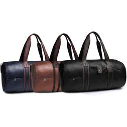 Men's  Leather Duffle Tote Bag Travel Gym Handbag Carry On L