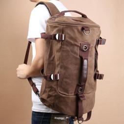 Men Luggage Canvas Duffel Backpack Camping Travel Gym Should