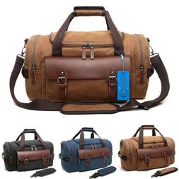 CrossLandy Men's Vintage Canvas Duffle Bag Gym Sports Travel