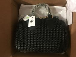New Austin & York Melissa Quilted Duffel Vegan Bag Purse Ivo