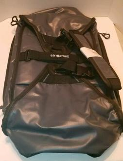 NEW Samsonite Black/Gray Duffle Bag Expandable Collapsible I