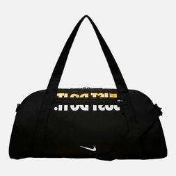 New Women's Nike Gym Club Training Duffel Bag Black/Black/Go