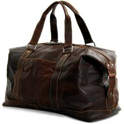 NWT $432 Jack Georges Voyager Duffel Bag Leather Brown