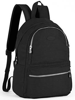 Lily & Drew Nylon Casual Travel Daypack Backpack with Trolle