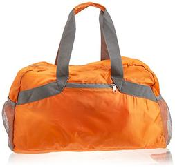 Orange Water Resistant Collapsible Duffel Bag with 3 Outside