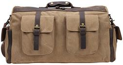 Iblue Weekend Bag Travel Duffel Canvas Carry on Gym Tote 285