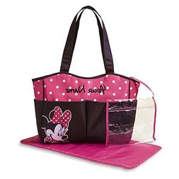 Disney Personalized Minnie Mouse Pink and Black with White P