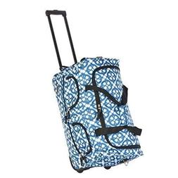 OLYMPIA PRINTED ROLLING 8 POCKET DUFFEL Bag Suitcase Luggage