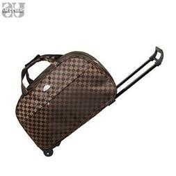 Rolling Wheeled Duffle Bag Light Weight Trolley Travel Suitc