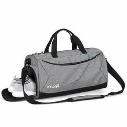 BABO Sports Gym Bag with Shoes Compartment Travel Duffel Bag