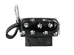 Doggie Walk Bags Square Duffel Paw Print Bag, Black