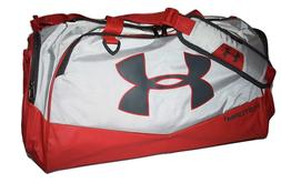 Under Armour Storm Undeniable II Duffle Bag, Medium, Red/Gra
