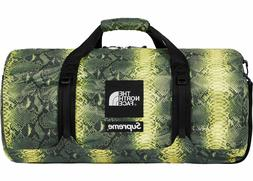Supreme x North Face Green Snakeskin Flyweight Duffle Bag ON
