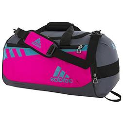 adidas Team Issue Duffel Bag, Shock Pink/Shock Green/Onyx, S