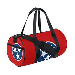 Tennessee State Flag Travel Duffel Shoulder Bag ,Sports Gy