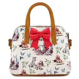 The Lady and the Tramp Loungefly Purse Duffel Handbag Bag Pu