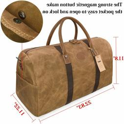 travel duffel bag waterproof canvas overnight leather
