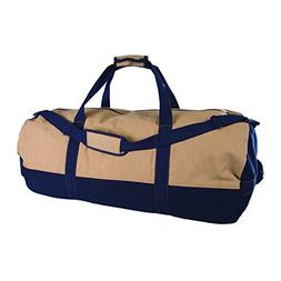 Stansport Two-Tone Canvas Duffle Bag with Zipper, 18 x 36-In