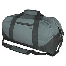 "18"" Two Tone Duffle Bag in Gray Black"