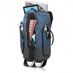 "SOLO VELOCITY BACKPACK DUFFEL 20"" Blue Gray Laptop Compartme"