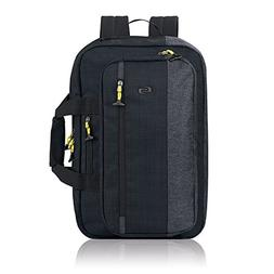 "Solo Velocity 15.6"" Laptop Hybrid Backpack Briefcase, Navy/G"