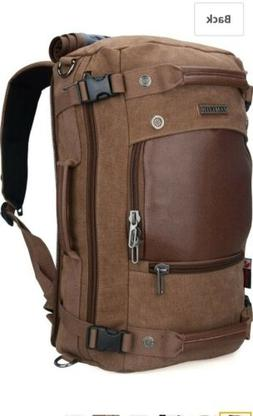 Witzman Vintage Canvas and Leather Travel Duffle/Rucksack 21
