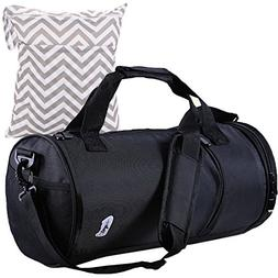 MyKazoe Water Resistant Swim / Gym Duffle Bag With Shoes Com