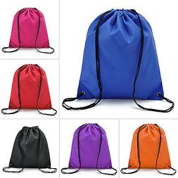 Waterproof Drawstring Backpack Cinch Sack String Bag Gym Tot