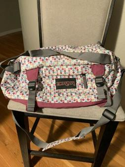 JanSport White Polka Dots Large Weekend Duffel Bag Tote - Ne