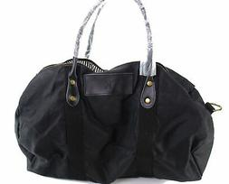 Designer Brand Women's Handbag Purse Black Large Duffel Bag