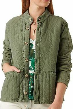 Lucky Brand Women's Long Sleeve Button Up Quilted Jacket, Du
