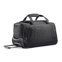"American Tourister Zoom 22"" Wheeled Duffel Bag in Black"